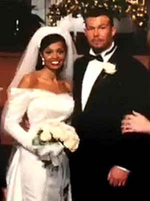 Chelsi Smith on her wedding day with her ex-husband Kelly Blair