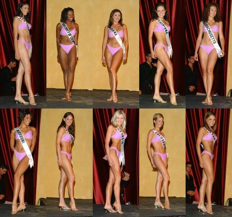 For the swimsuit competition, all the swimsuits seemed to accentuate the ...