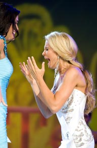 Danielle Doty reacts to winning Miss Teen USA 2011
