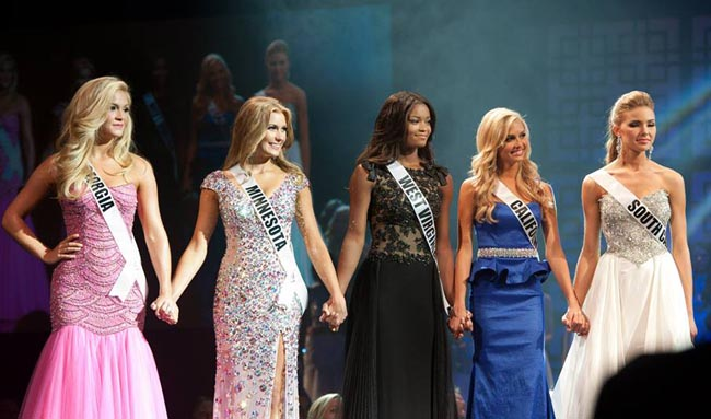 Top 5 of Miss Teen USA 2013 - Georgia, Minnesota, West Virginia, California, South Carolina