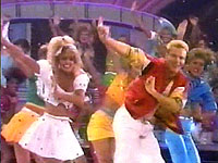 An awesome dance number during Miss Teen USA 1988 to 'I Saw Him Standing There' led by Kristi Addis, Miss Teen USA 1987