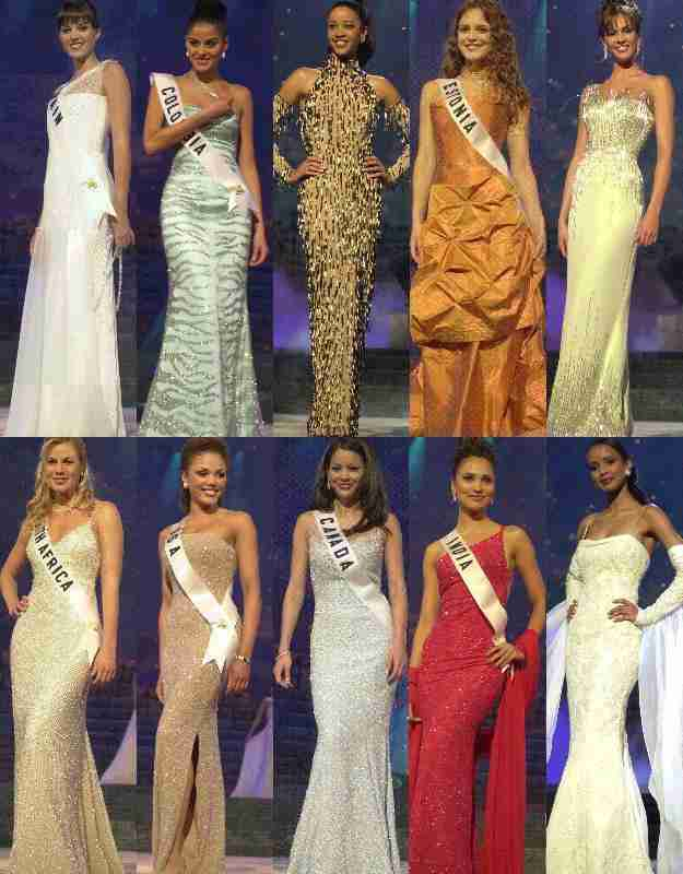 GOWN TOP 10 Miss Universe 2000-2011