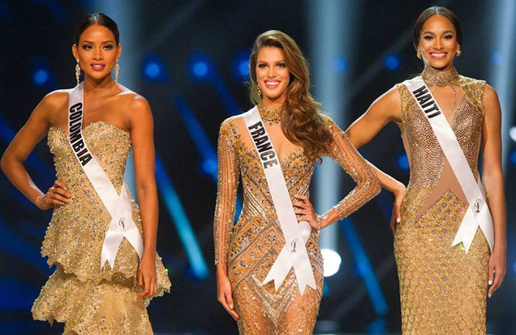 Top 3-Colombia, France, Haiti