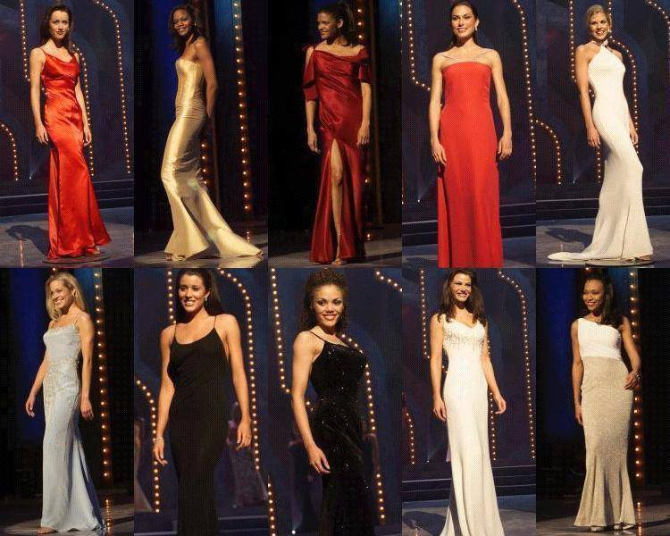 Evening gown competition: South Carolina, Colorado, Iowa, New Hampshire,  Kansas,