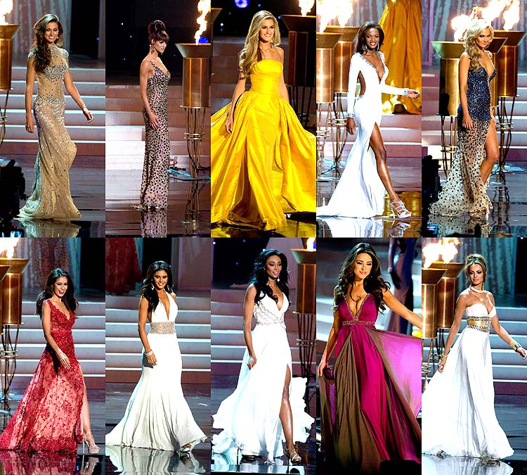 Miss USA 2012 Evening Gown Competition: Alabama, Oklahoma, Ohio, Georgia, Texas, Colorado, New Jersey, Maryland, Rhode Island, Nevada