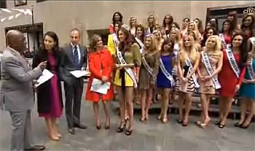 Miss USA 2012 contestants with reigning Miss USA, Alyssa Campanella appear on the Today Show on May 8