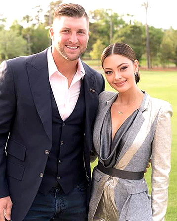 Demi-Leigh Nel-Peters-Miss Universe 2017 and Tim Tebow