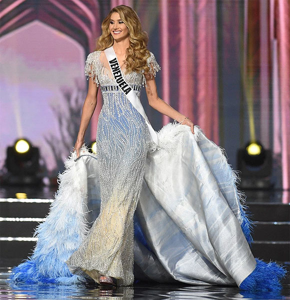 Venezuela's Mariam Habach during the preliminary evening gown competition